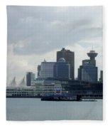 Vancouver Harbour Fleece Blanket