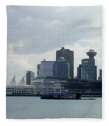 Vancouver Harbour Fleece Blanket
