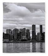 Vancouver In Black And White. Fleece Blanket