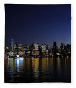 Vancouver Night Lights Fleece Blanket