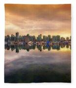 Vancouver Reflections Fleece Blanket