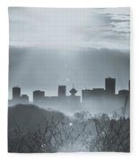 Vancouver Skyline Fleece Blanket