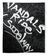 Vandals Ride Sideways Fleece Blanket