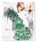 Vanessa IIi Fleece Blanket