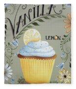 Vanilla Lemon Cupcake Fleece Blanket