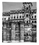 Varanasi Bw Fleece Blanket