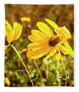 Variableleaf Sunflower Fleece Blanket