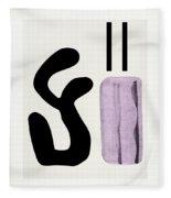 Variation Matisse Pink Fleece Blanket