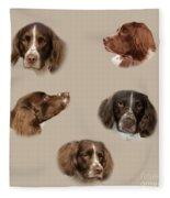 Variations Of A Spaniel Fleece Blanket