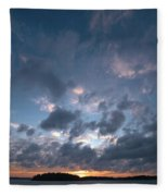 Variations Of Sunsets At Gulf Of Bothnia 5 Fleece Blanket