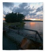 Variations Of Sunsets At Gulf Of Bothnia 6 Fleece Blanket