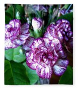 Variegated Carnations Fleece Blanket