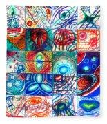 Variety Of Space Galaxies Stars Anomalies. Part 1 Fleece Blanket