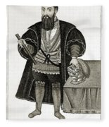 Vasco Da Gama, Portuguese Explorer Fleece Blanket