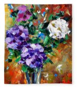 Vase Of Color Fleece Blanket