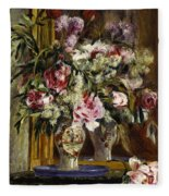Vase Of Flowers, 1871  Fleece Blanket