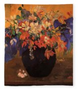 Vase Of Flowers 1896 Fleece Blanket
