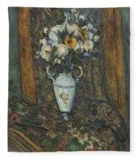 Vase Of Flowers Fleece Blanket