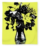 Vase Of Flowers Fleece Blanket