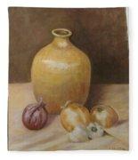 Vase With Onion Fleece Blanket