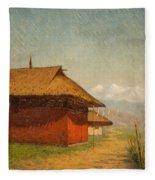 Vasily Vasilievich Vereshchagin  Russian 1842  1904 Nepalese Village Fleece Blanket