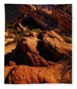 Vasquez Rocks And Stars Fleece Blanket