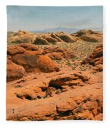 Vast Desert Valley Of Fire Fleece Blanket
