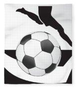 Vector Soccer Ball. Corner Kick Graphic Symbol Fleece Blanket