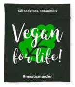 Vegan Life Fleece Blanket