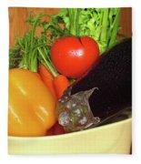 Vegetable Bowl Fleece Blanket