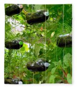 Vegetable Growing In Used Water Bottle 4 Fleece Blanket