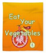 Vegetable Kitchen Decor Fleece Blanket