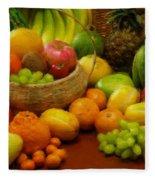 Vegetables And Fruits  Fleece Blanket