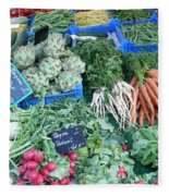 Vegetables At German Market Fleece Blanket
