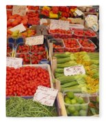 Vegetables At Italian Market Fleece Blanket