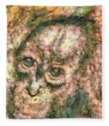 Vegged Out Monkey Fleece Blanket