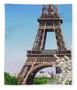 Eiffel Tower And Spring Fleece Blanket