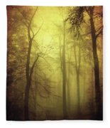 Veiled Trees Fleece Blanket