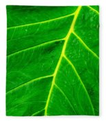 Veins Of Green Fleece Blanket