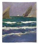 Velas En El Mar. Valencia Fleece Blanket
