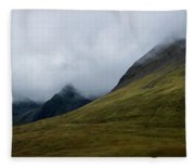 Velvet Hills In The Mist Fleece Blanket