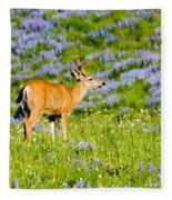 Velvet On Lupine Fleece Blanket
