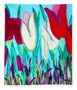 Velvet Tulips Fleece Blanket
