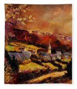 Vencimont Village Ardennes  Fleece Blanket