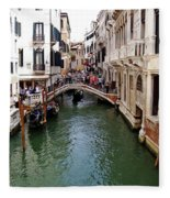Venetian Bridge Fleece Blanket