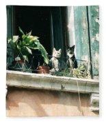 Venetian Cats Fleece Blanket