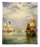 Venetian Grand Canal Fleece Blanket