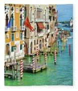 Venetian Palaces Fleece Blanket