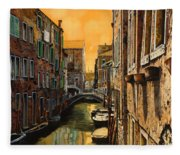 Venezia Al Tramonto Fleece Blanket