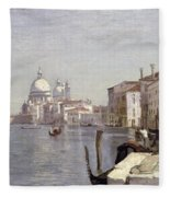 Venice - View Of Campo Della Carita Looking Towards The Dome Of The Salute Fleece Blanket